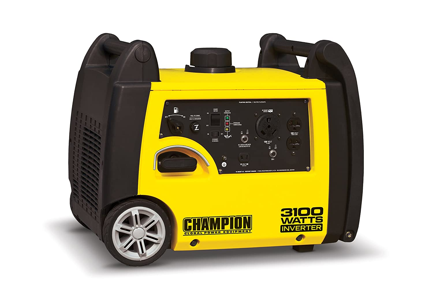 Champion 3100 Watt Rv Ready Portable Inverter Generator Emergency Battery Cutoff Alternator Protection Pelican Parts Garden Outdoor
