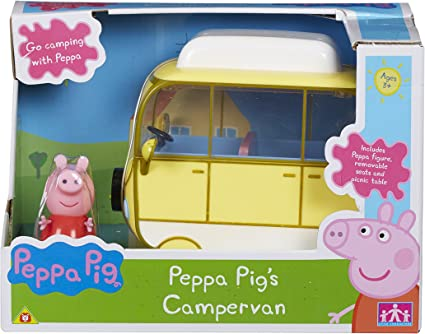 Peppa Pig Peppa Family Campervan Large Vehicle  New Playset frustration free