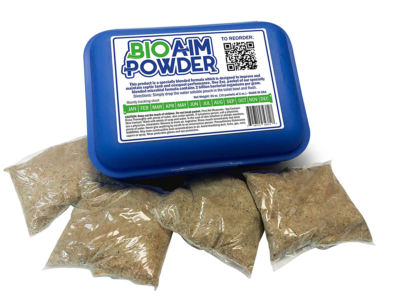Homey Aim 浄化槽処理 12ヶ月間の処理 1回の洗浄 安全ライブバクテリアパウダーパック ナチュラルホームシステム 高価な汚染を防ぐ 米国製 バイオエイムパウダー   B07GZDWHZZ