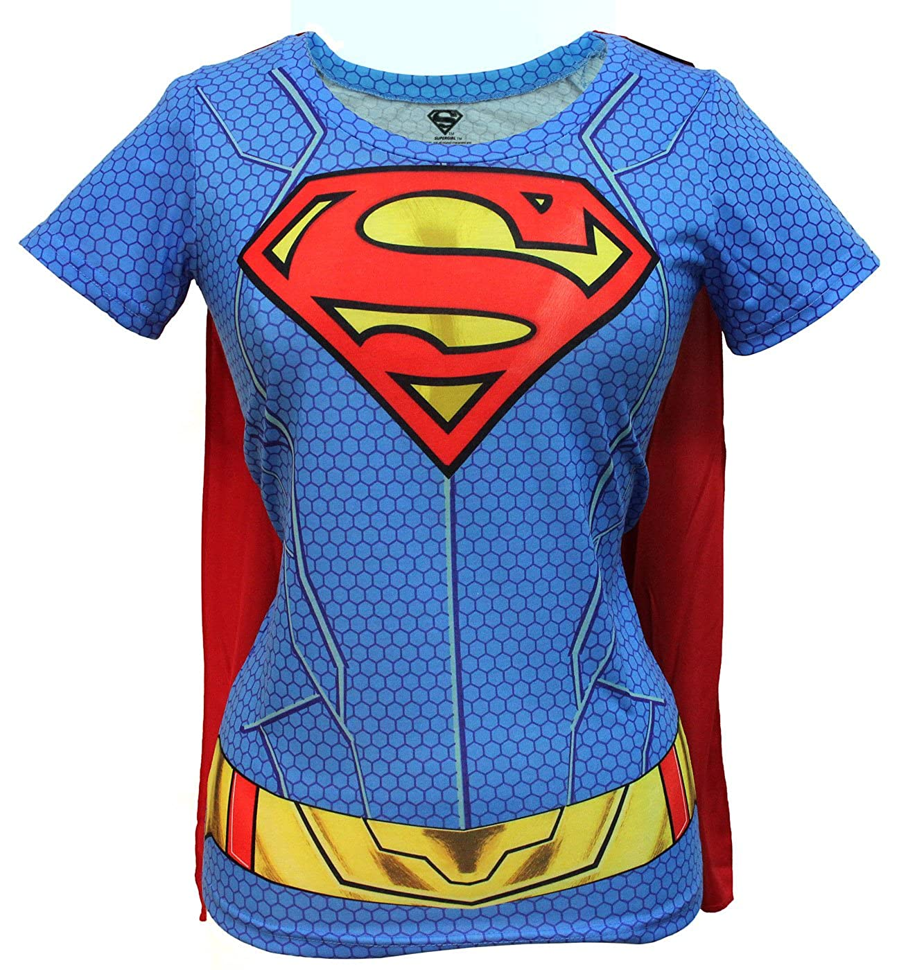 eef89da1 Top1: Bioworld Juniors: Supergirl- Costume Tee with Cape Juniors (Slim) T- Shirt