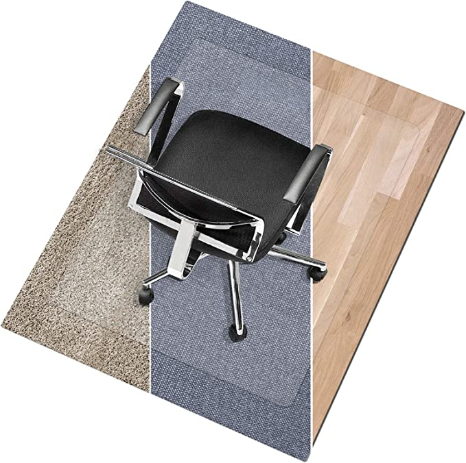 POHOVE Home Office Chair Mat 23.6 X 35.4 inches 23.6 X 35.4 inches Rectangle Office Chair Mats for Hard Surfaces Transparent Hard Floors Protector Rectangle