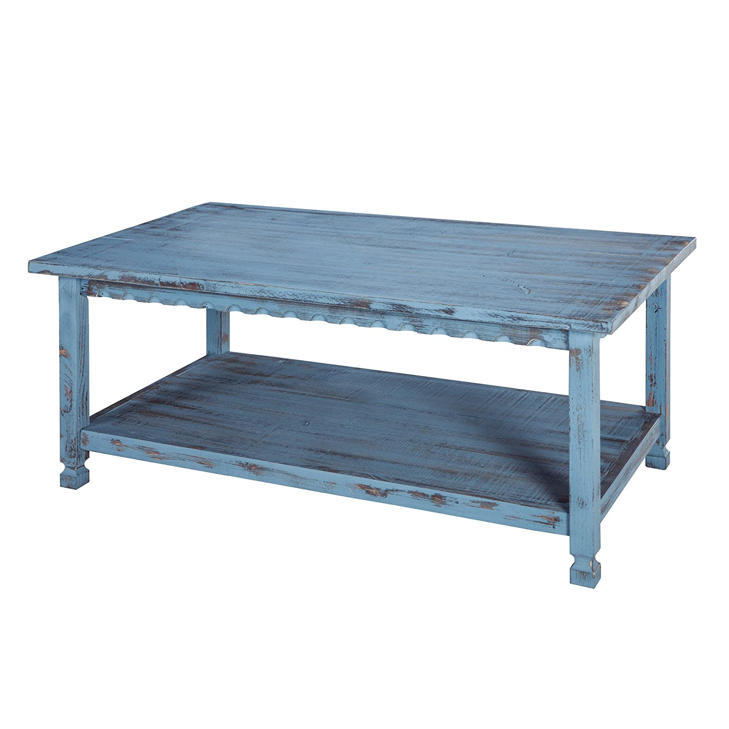 Merveilleux Amazon.com: Alaterre ACCA11BA Rustic Coffee Table, Blue Antique: Kitchen U0026  Dining