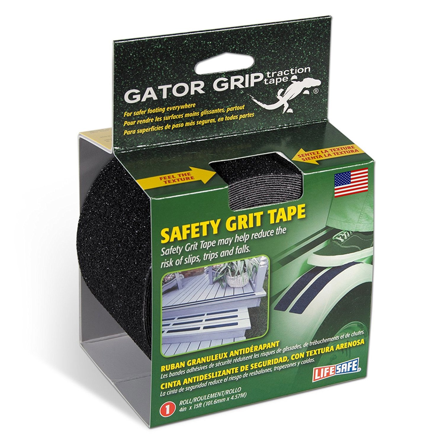 Gator Grip: RE3952 Premium Grade Anti-Slip Traction Tape, 4 Inch x 15 Foot, Black by Gator Grip