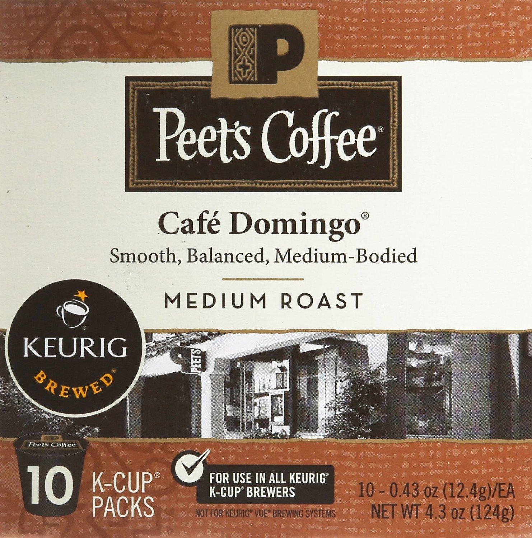 Peet's Coffee Cafe Domingo Medium Roast Single Cup Coffee for ...