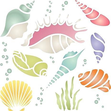 A4 Wash Soak Bathroom Stencil Reusable Mylar Shabby Chic Furniture Wall Fabric