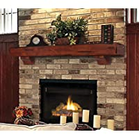 pearl mantels 412 48 70 shenandoah pine wall shelf 48 inch - Fireplace Mantel And Bookshelves