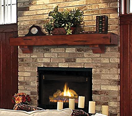 amazon com pearl mantels 412 60 70 shenandoah pine wall shelf 60 rh amazon com rustic fireplace mantel diy fireplace mantel rustic wood