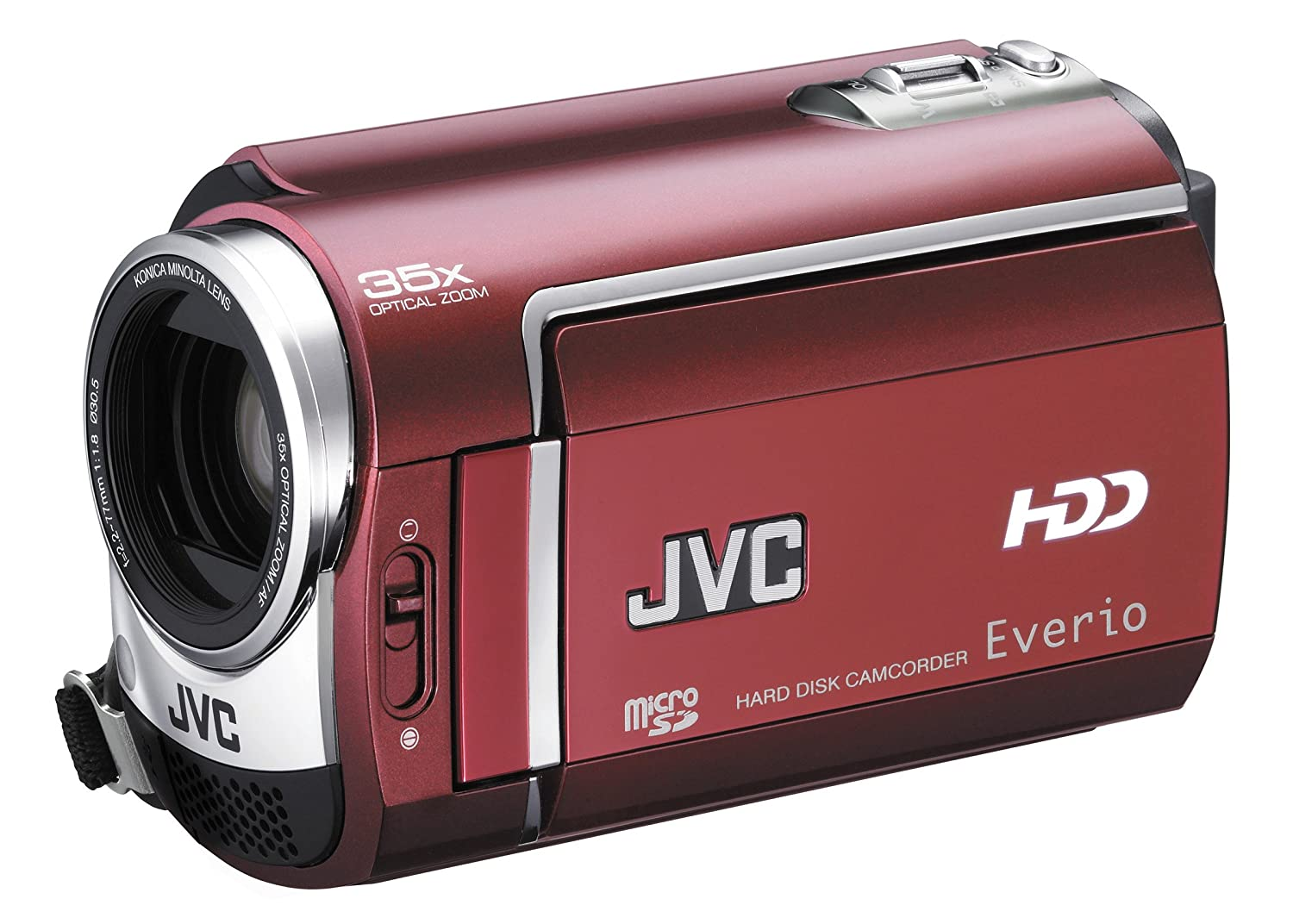 Amazon.com : JVC Everio GZ-MG330 30 GB Hard Disk Drive Camcorder with 35x  Optical Zoom (Red) (Discontinued by Manufacturer) : Camera & Photo