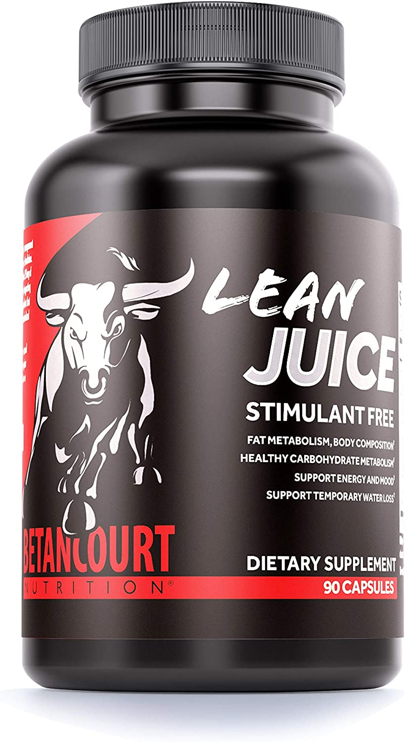 Betancourt Nutrition Lean Juice Dietary Supplement, Stimulant-Free, Body Re-Composition Aid, Capsules, 90-Count