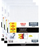 "Five Star Filler Paper, Graph Ruled Paper, 100 Sheets/Pack, 11"" x 8-1/2"", Reinforced, Loose Leaf, White, 3 Pack (38034)"