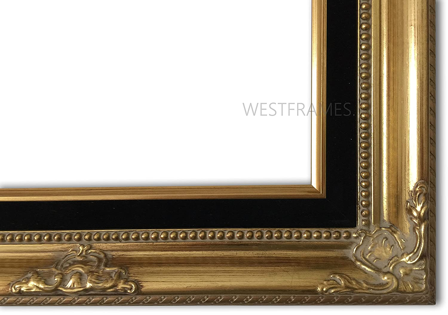 Amazon west frames estelle antique gold leaf wood picture amazon west frames estelle antique gold leaf wood picture frame with black velveteen liner 11 x 14 jeuxipadfo Images