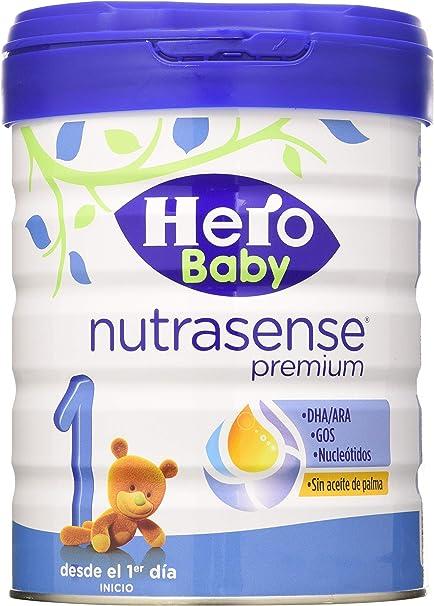 Hero Baby Nutrasense Premium 1 - Leche de Inicio en Polvo para Bebés hasta los 6 Meses, Crecimiento y Desarrollo - Pack de 2 x 800g: Amazon.es: Alimentación y bebidas