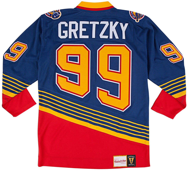 c6dc00f4 Wayne Gretzky St. Louis Blues Mitchell & Ness Authentic 1995 Blue NHL Jersey,  Jerseys - Amazon Canada