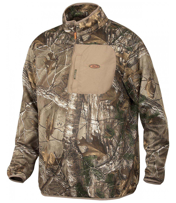 2e59b07bedfde Amazon.com: Drake Realtree Extra Endurance Quarter Zip Pullover Jacket:  Clothing