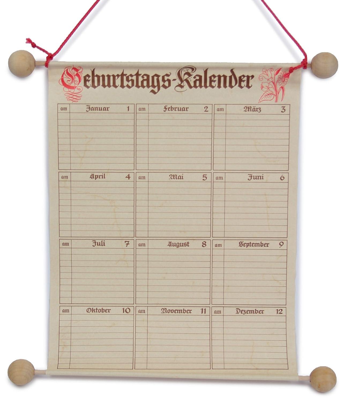 RNK 2886 - Calendario dei compleanni, 25 x 32 cm