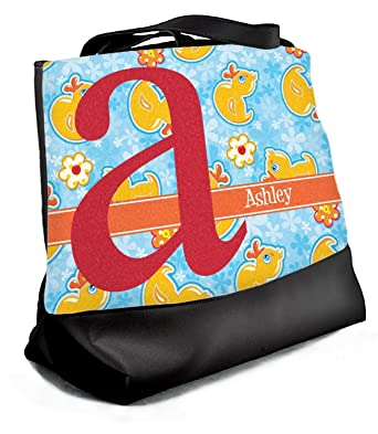 f0f3b30443 Image Unavailable. Image not available for. Color  Rubber Duckies   Flowers  Beach Tote Bag - Large ...