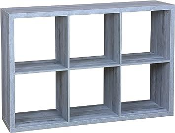 Oxford Bookcase 3 Tier Cube Shelf Wood Storage Photo Display Room Furniture Unit