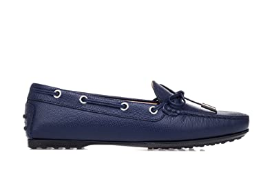 f7c043ea6ba Tod's Women's Shoes 'Gommini' Leather Driving Moccasins-36.5 Donna Blue
