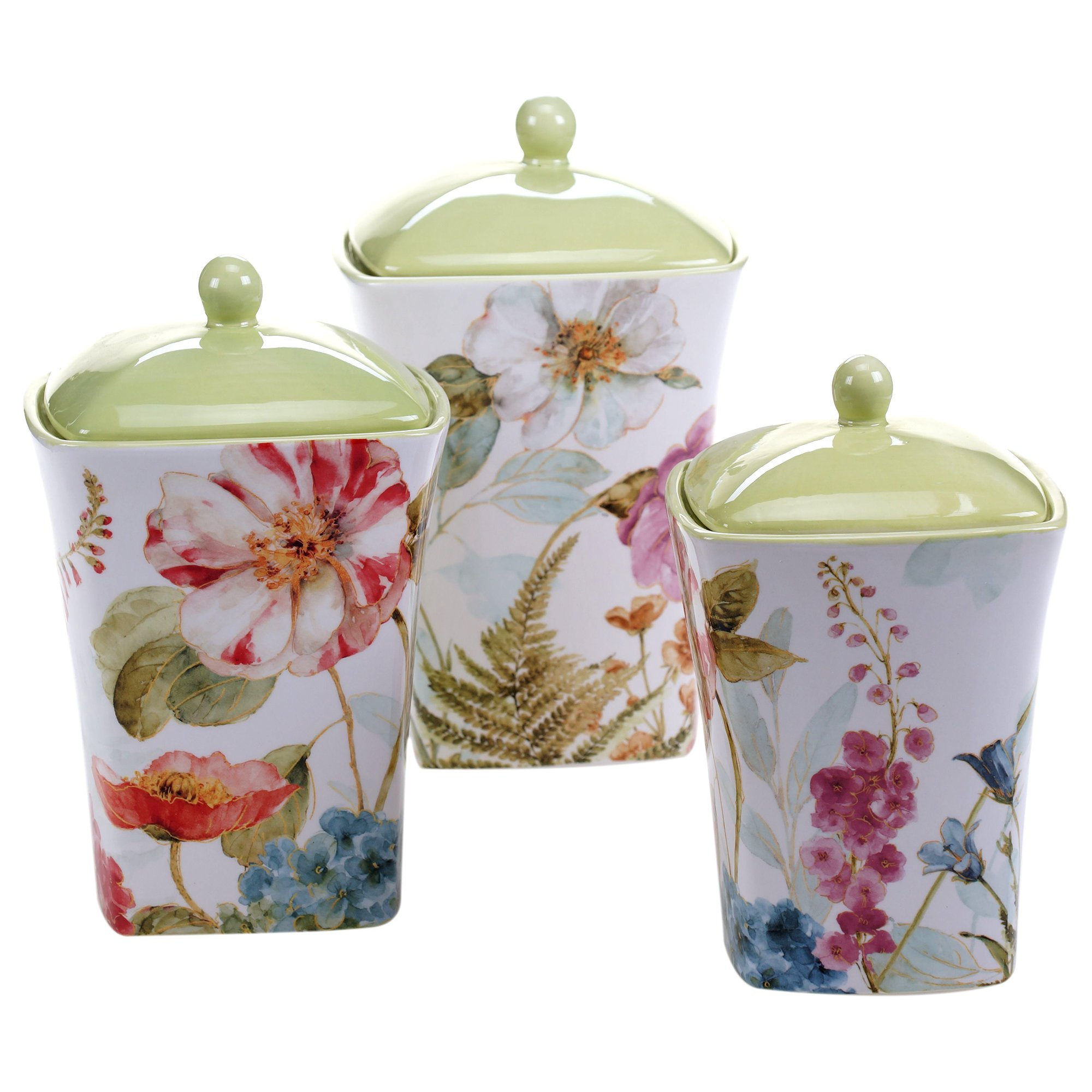 Certified International 3 Piece Rainbow Seeds Canister Set, Multicolor
