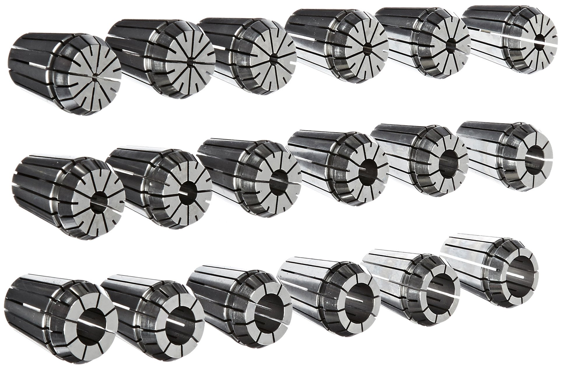 Dorian Tool ER32 Alloy Steel Ultra Precision Collet Set, 0.078'' - 0.787'' Hole Size (Set of 18) by Dorian Tool