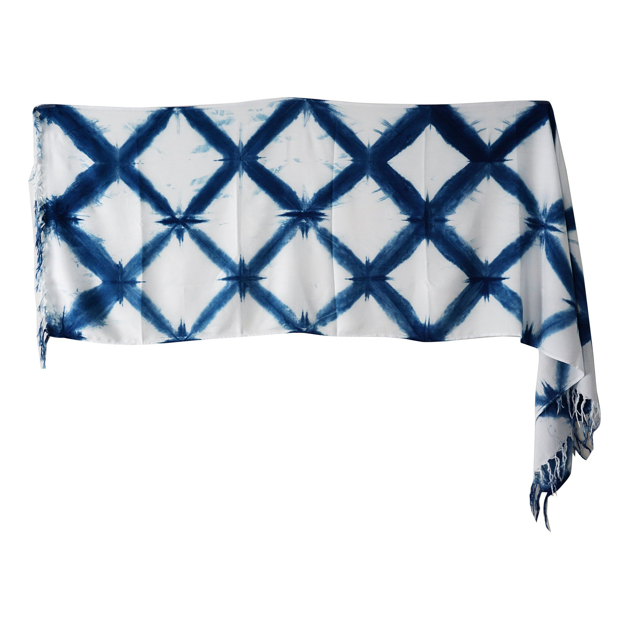 Amaret Thailand - Scarf For Women Indigo Tie Dye, Summer Season Tropical Style, Product From Northern Of Thailand [Hand Made]
