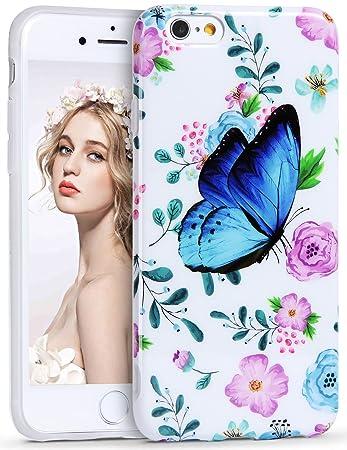 23ca37e44f Imikoko iPhone6s ケース iPhone6ケース アイフォン6sケース スマホケース case 保護カバー 花柄 蝶 おしゃれ