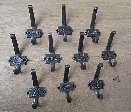 Ironmongery World® Perchero de pared de hierro fundido de ...