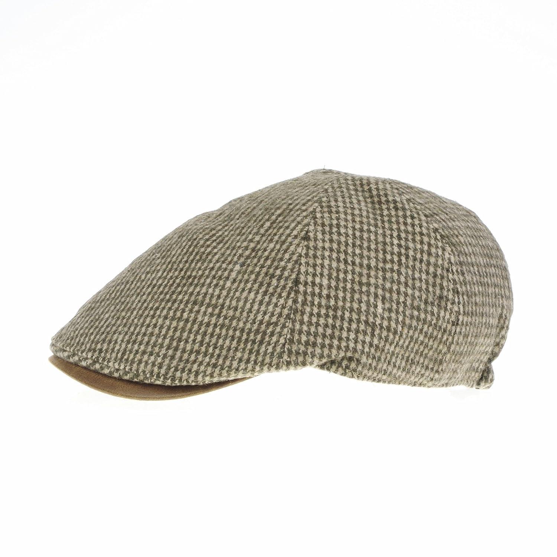 WITHMOONS Coppola Cappello Irish Gatsby Winter Tweed Houndstooth Newsboy Hat Faux Leather Brim Flat Cap SL3019