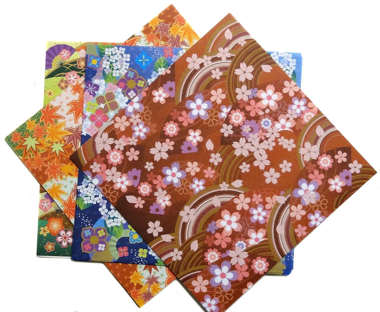 Japonmania–Carta Origami 15x 15cm–28fogli 4stagioni