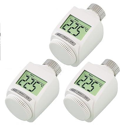 Juego de 3 termostatos para radiadores (incluye tuercas de metal robustas