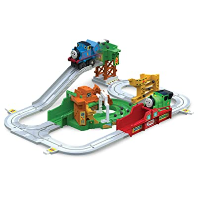 TOMY Thomas and Friends Big Loader Motorized Toy Train Set (3 Vehicle Set), Multi: Toys & Games