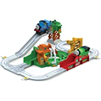 Thomas & Friends Thomas the Tank Engine Big Loader Sodor Delivery Playset, Motorized Train Set with 8 Feet of Track