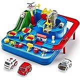 CubicFun Race Tracks for Boys Car Adventure Toys for 3 4 5 6 7 8 Year Old Boys Girls, City Rescue Preschool Educational…