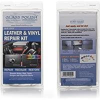 GLASS POLISH GP91001 Leather and Vinyl Repair DIY Kit, Repairs holes, rips, tears, gouges, cigarette burns/Air Dry