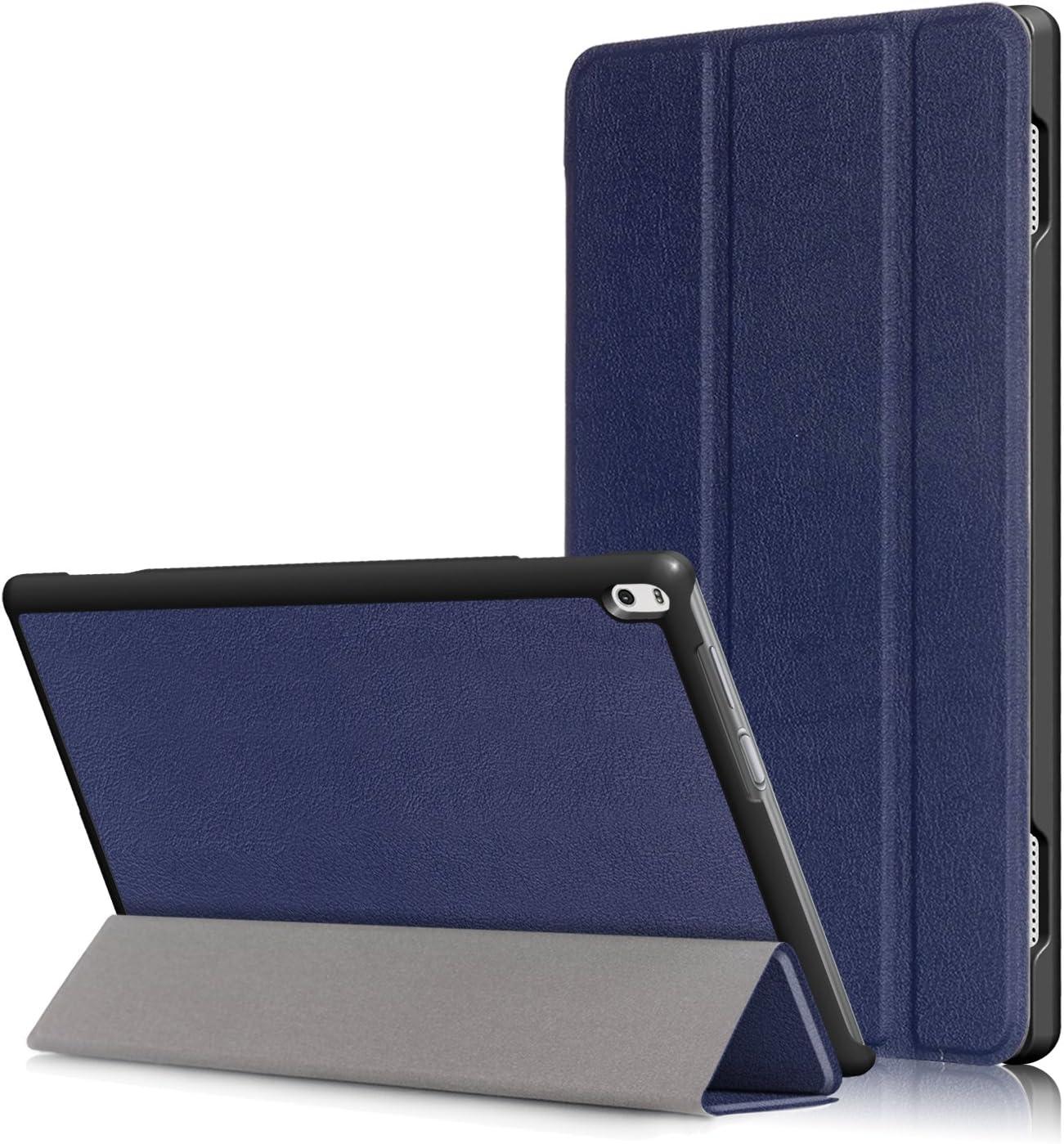 "Lenovo Tab 4 10"" Case, EpicGadget(TM) Lenovo Tab 4 10 (TB-X304F/N) Tri-fold Stand Ultra Lightweight Slim Cover PU Leather Case For Lenovo Tab 4 10"" (2017) (Navy Blue)"