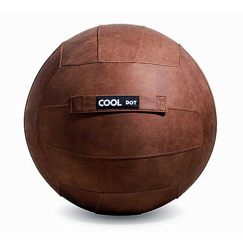 COOLDOT 抗菌ブラウンヨガシッティングボールチェア