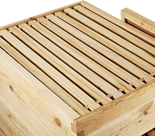 Happybuy Bee Hive 20 Frame Beehive Box 10 Deep and 10 Medium Frames Langstroth Wooden Beehive Kit for Beginners and Pro Beekeepers