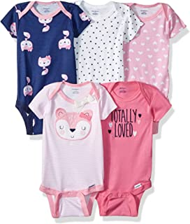 230ca721b Amazon.com  Gerber Baby 5-Pack Solid Onesies Bodysuits  Clothing