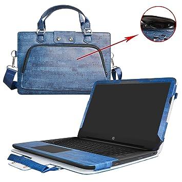 HP Notebook 15 Funda,2 in 1 Diseñado Especialmente La Funda Protectora de Cuero de