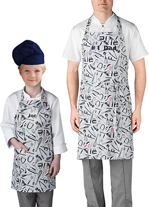 Amazon Com Tiger Chef Professional Series Design Your Own Personalized Apron For Chefs And Sous Chef And Little Cooks Adult 1 Line Personalize Utensils Kitchen Dining,Easy Simple Mehndi Designs For Kids Back Hand