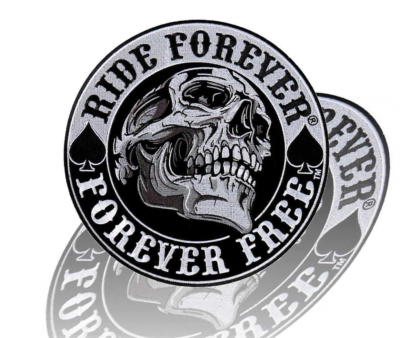 Daywalker Bikestuff Ride Forever Forever Free Premium Patch Skull Bones Spade Big