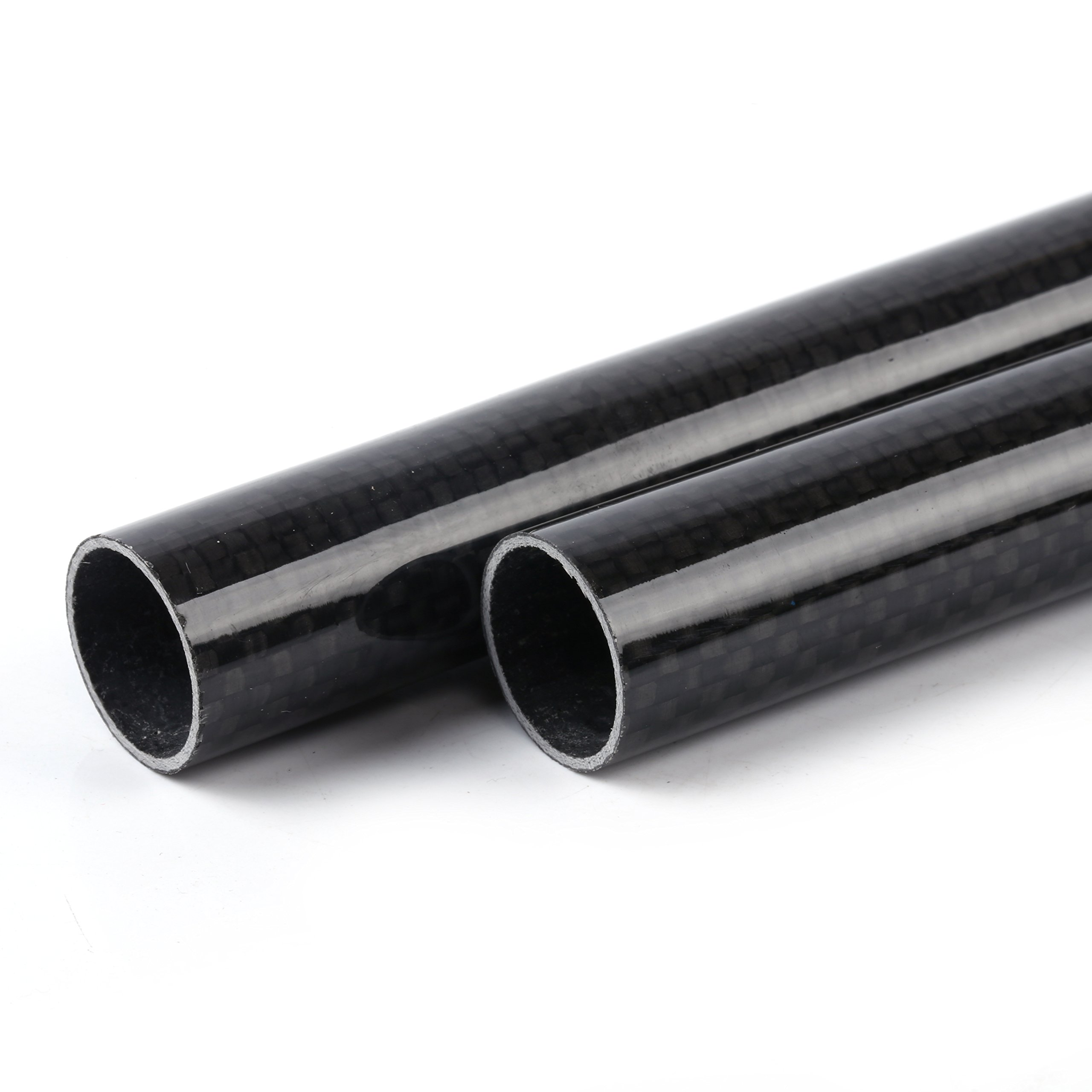 ALSTON 3K Wrapped Carbon Fiber Tube 8x10x500mm Light Surfaces Pack of Two Pcs