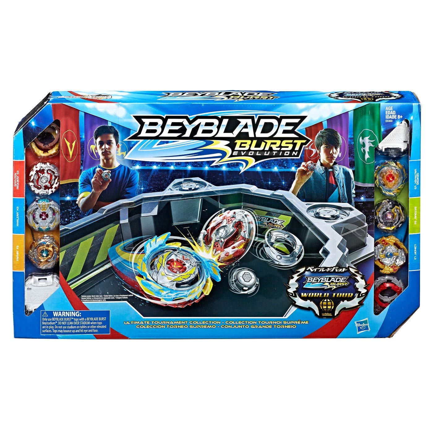Beyblade Burst Evolution Ultimate Tournament Collection Tops and Beystadium