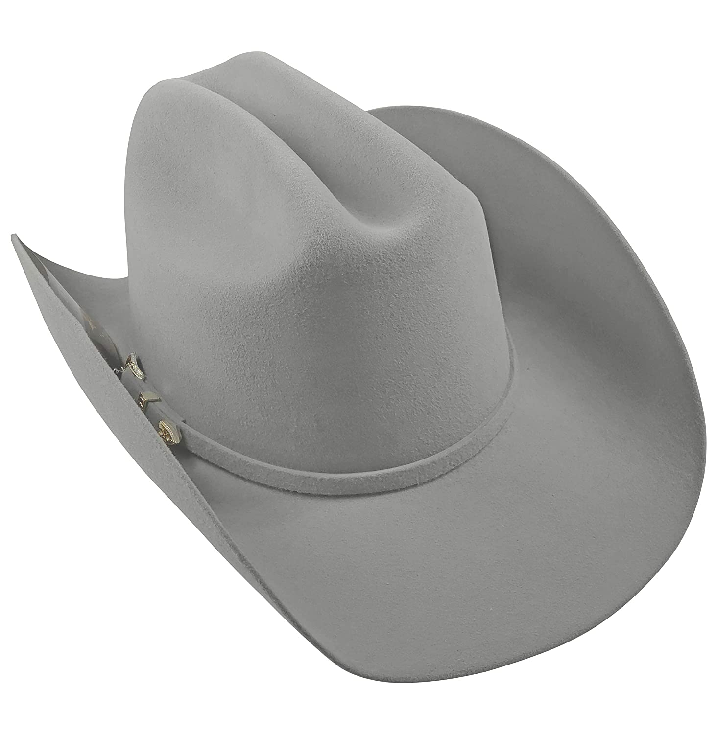 El General Mens Cowboy Hat Texana 50X Horma Durangense Color Silver Wool