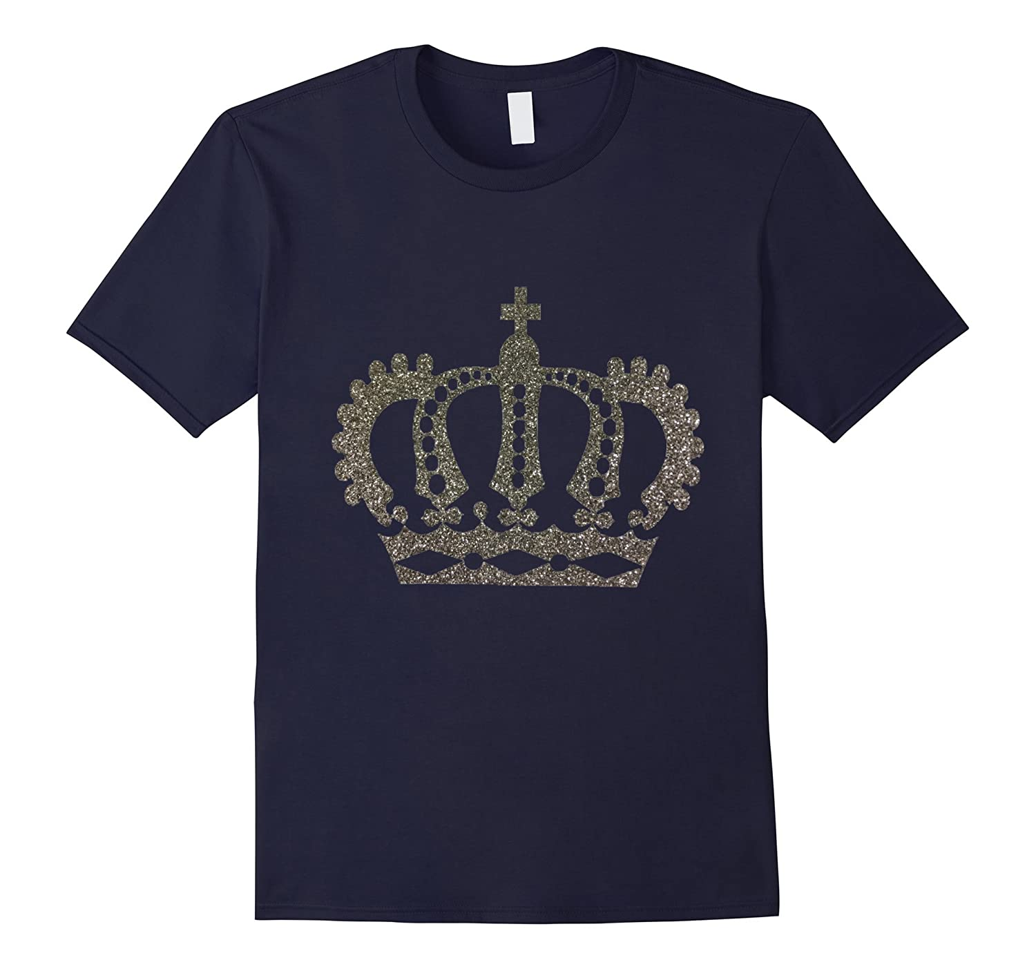 Fancy Silver Crown t-shirt King Queen Princess Prince-FL