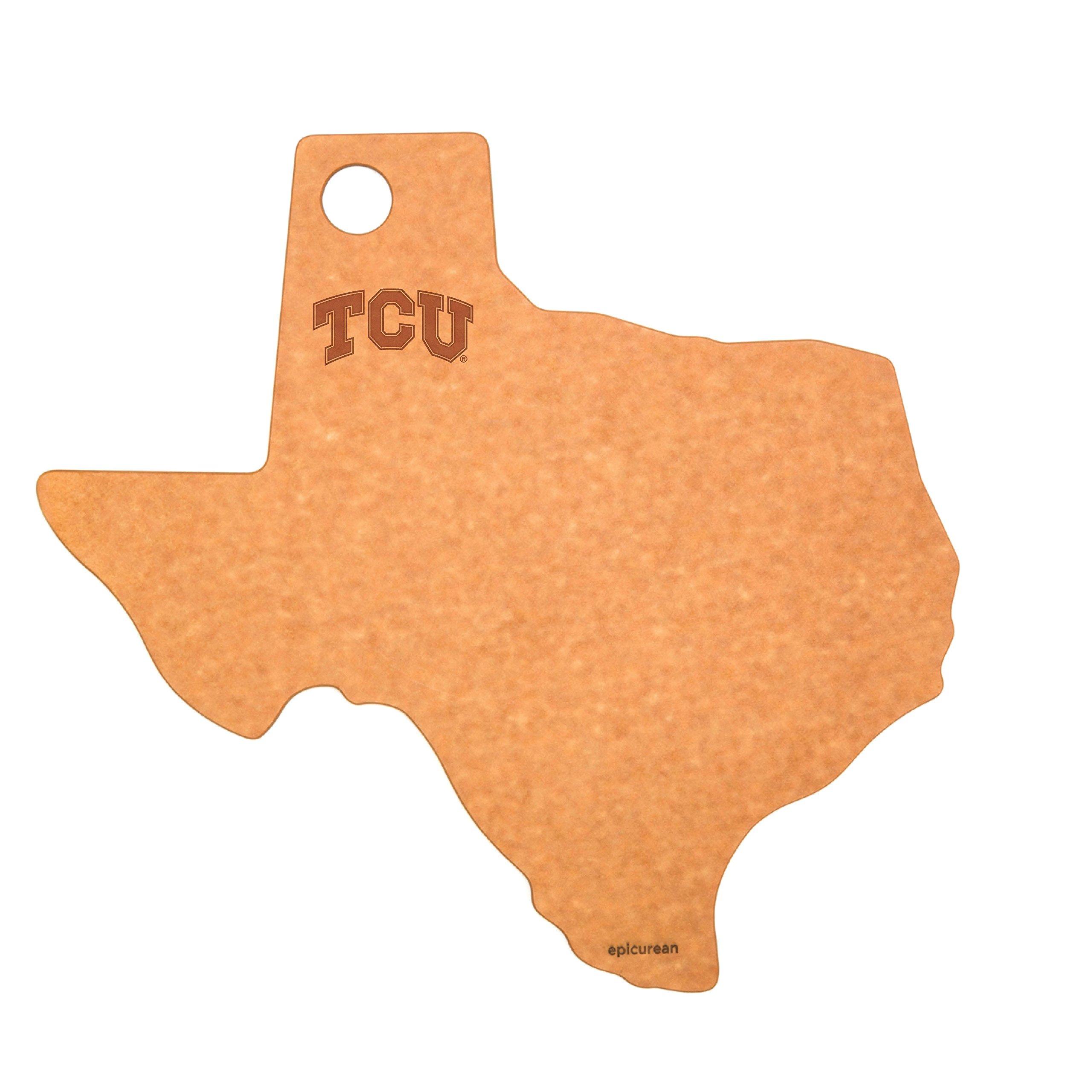 Epicurean C032-TX0102-TCU Texas Christian Tcu Horned Frogs Cheese Board, Natural/Slate