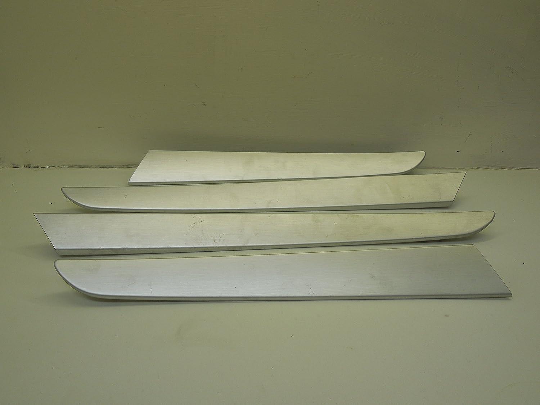 Audi A6 C6 Set de 4 aluminio cepillado plata puerta Mic: Amazon.es: Coche y moto