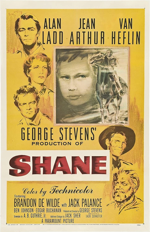 Amazon.com: Da Bang Shane Movie Poster 1953 Rare Western 24x36inch: Posters  & Prints