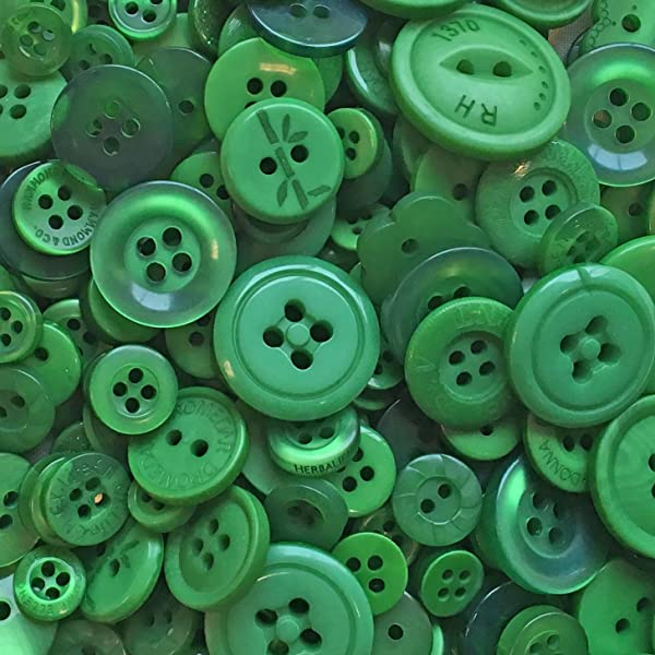 ASSORTED BUTTONS PACK OF 1KG DARK GREEN MIXED BUTTONS PLASTIC BUTTONS