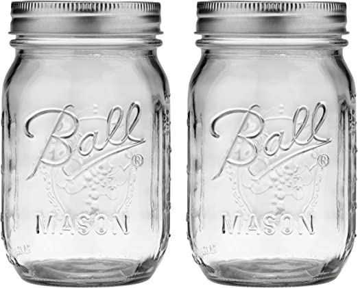 16 oz Set of 24 jars with Lids and Bands for canning  New Ball Pint Mason Jars